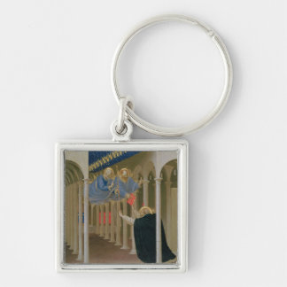 Apparition of SS. Peter and Paul to St. Silver-Colored Square Key Ring