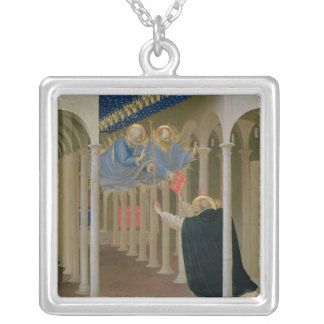 Apparition of SS. Peter and Paul to St. Silver Plated Necklace