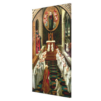 Apparition of the Virgin to a Community Canvas Print
