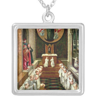 Apparition of the Virgin to a Community Silver Plated Necklace
