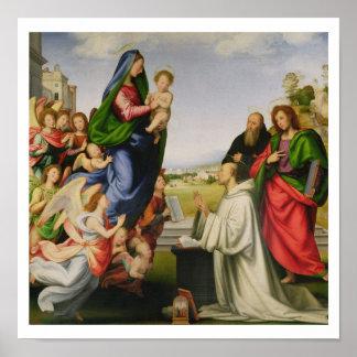 Apparition of the Virgin to St. Bernard, 1504-07 ( Poster