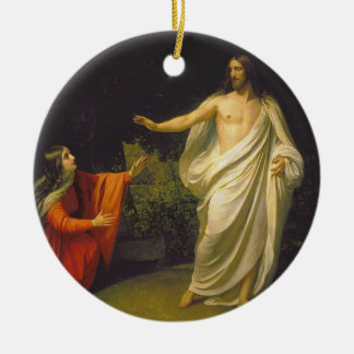 Appearance of Jesus Christ to Maria Magdalina Christmas Ornament