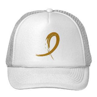 Appendix Cancer Amber Ribbon A4 Trucker Hat