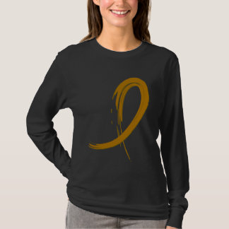 Appendix Cancer Amber Ribbon A4 T-Shirt