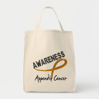 Appendix Cancer Awareness 3 Grocery Tote Bag