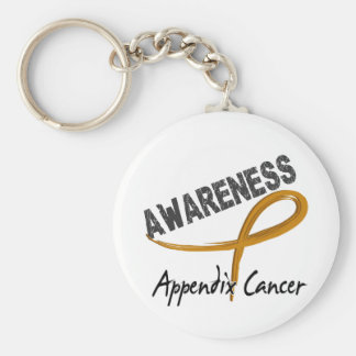 Appendix Cancer Awareness 3 Key Chain
