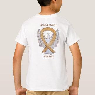 Appendix Cancer Awareness Amber Ribbon Angel Shirt