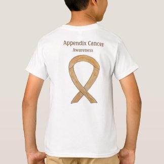 Appendix Cancer Awareness Amber Ribbon Shirt