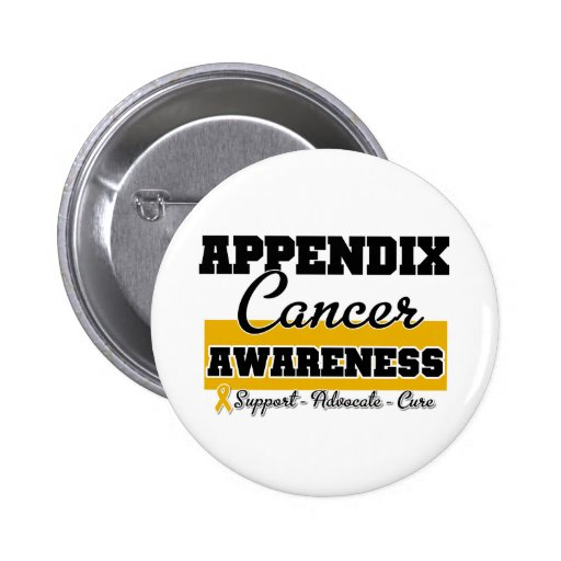 Appendix Cancer Awareness Buttons