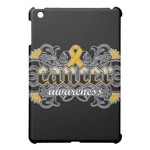 Appendix Cancer Awareness Floral Ornamental iPad Mini Cases
