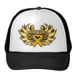 Appendix Cancer Awareness Heart Wings.png Mesh Hats
