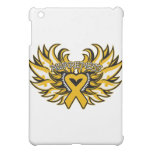 Appendix Cancer Awareness Heart Wings.png iPad Mini Covers