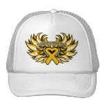 Appendix Cancer Awareness Heart Wings.png Mesh Hat