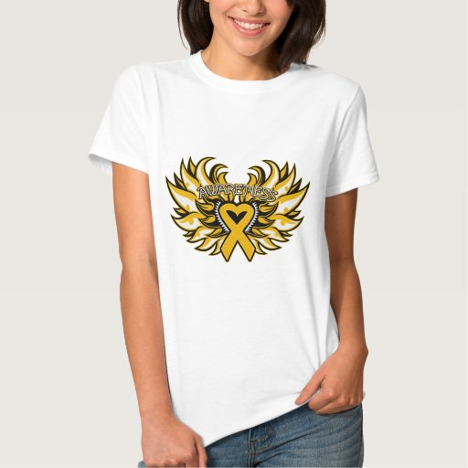 Appendix Cancer Awareness Heart Wings.png T Shirts