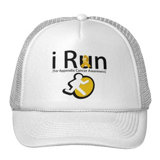 Appendix Cancer Awareness I Run Trucker Hat