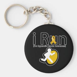 Appendix Cancer Awareness I Run Key Chain
