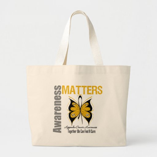 Appendix Cancer Awareness Matters Tote Bags