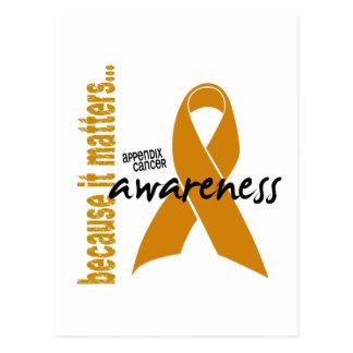 Appendix Cancer Awareness Postcard