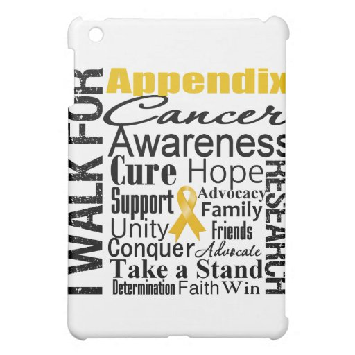 Appendix Cancer Awareness Walk iPad Mini Cases