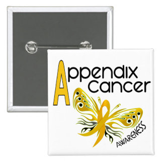 Appendix Cancer BUTTERFLY 3.1 15 Cm Square Badge