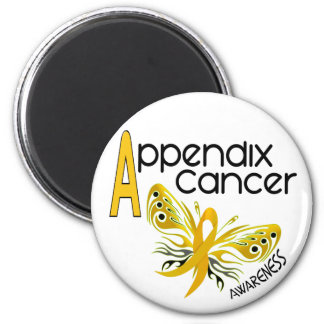 Appendix Cancer BUTTERFLY 3.1 6 Cm Round Magnet