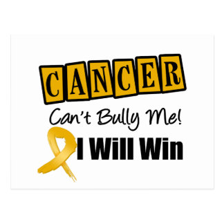 Appendix Cancer Cant Bully Me I Will Win Postcard