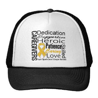 Appendix Cancer Caregivers Collage Mesh Hat