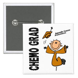 Appendix Cancer CHEMO GRAD 1 15 Cm Square Badge