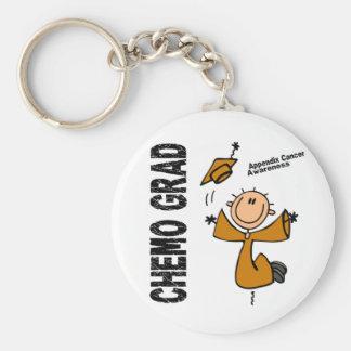 Appendix Cancer CHEMO GRAD 1 Keychain