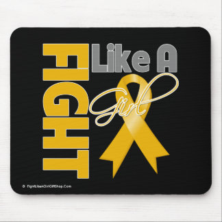 Appendix Cancer Chic Fight Like A Girl Ribbon Mouse Pad
