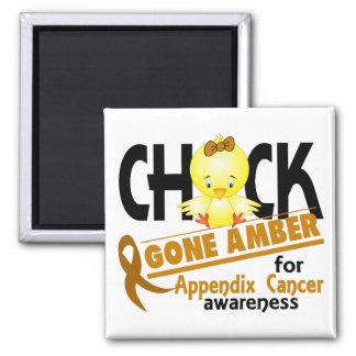 Appendix Cancer Chick Gone Amber 2 Square Magnet