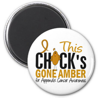 Appendix Cancer Chick Gone Amber 6 Cm Round Magnet