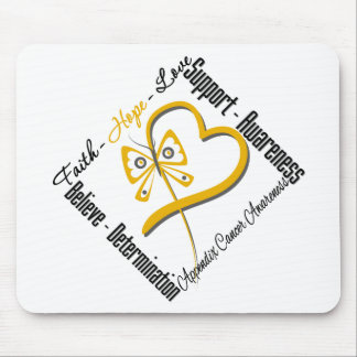 Appendix Cancer Faith Hope Love Butterfly Mouse Pad