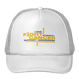 Appendix Cancer Fight Collage Mesh Hats