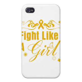 Appendix Cancer Fight Like A Girl Ornate Covers For iPhone 4
