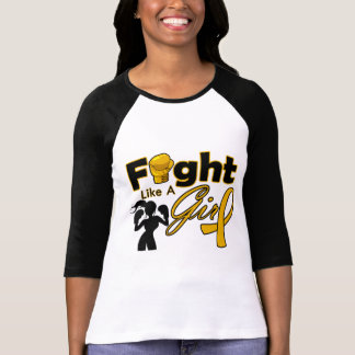 Appendix Cancer Fight Like A Girl Silhouette T Shirt