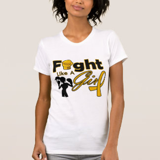 Appendix Cancer Fight Like A Girl Silhouette T Shirts