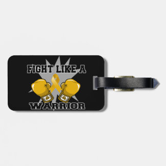 Appendix Cancer Fight Like a Warrior Luggage Tags