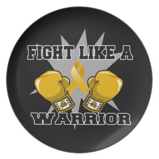 Appendix Cancer Fight Like a Warrior Plate