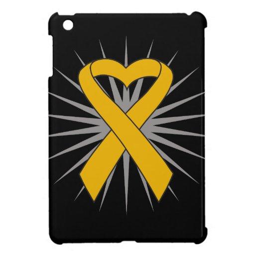 Appendix Cancer Heart Ribbon Cover For The iPad Mini