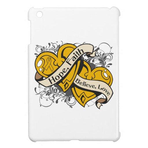 Appendix Cancer Hope Faith Dual Hearts Case For The iPad Mini