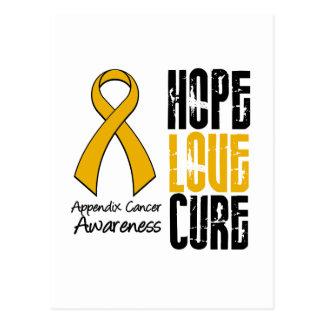 Appendix Cancer Hope Love Cure Ribbon Postcard