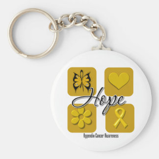 Appendix Cancer Hope Love Inspire Awareness Basic Round Button Key Ring