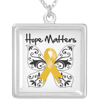 Appendix Cancer Hope Matters Square Pendant Necklace