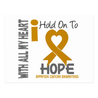 Appendix Cancer I Hold On To Hope Postcard
