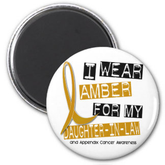 APPENDIX CANCER I Wear Amber Daughter-In-Law 37 6 Cm Round Magnet