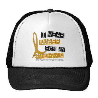 APPENDIX CANCER I Wear Amber For My Brother-In-Law Cap
