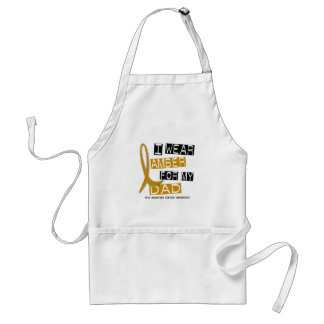 APPENDIX CANCER I Wear Amber For My Dad 37 Standard Apron