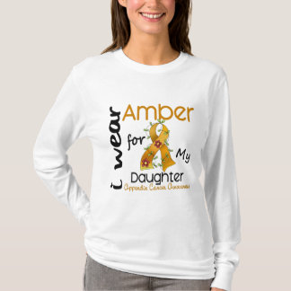 Appendix Cancer I Wear Amber For My Daughter 43 T-Shirt