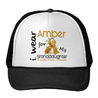 Appendix Cancer I Wear Amber For My Granddaughter Cap